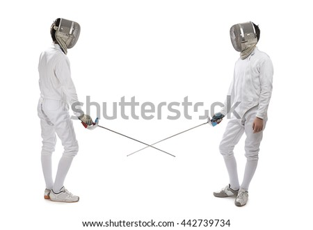 Foil Fencing - stock photo