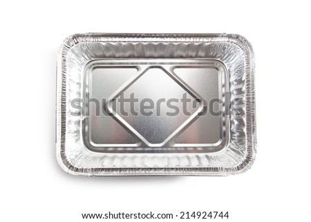 Foil Food Box over White - stock photo