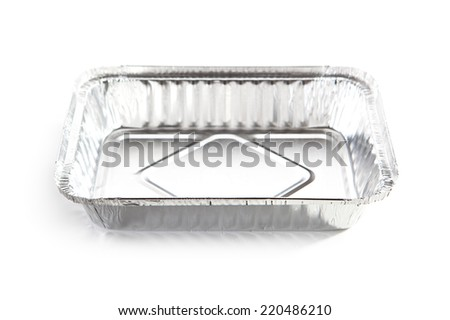 Foil Food Box over White