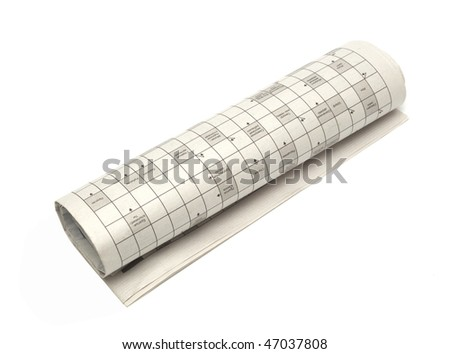 Fold up a newspaper isolated on white background - stock photo