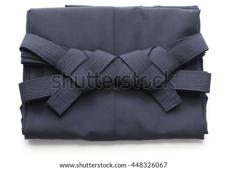 folded aikido hakama , japanese martial arts uniform