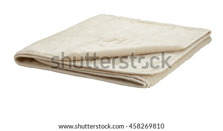 Folded blanket isolated on white background. Include clipping path