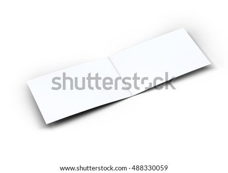 Folded business card mockup 3 d illustration stock illustration folded business card mockup 3d illustration reheart Choice Image