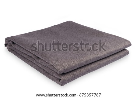 folded fabric isolated on white background selective focus