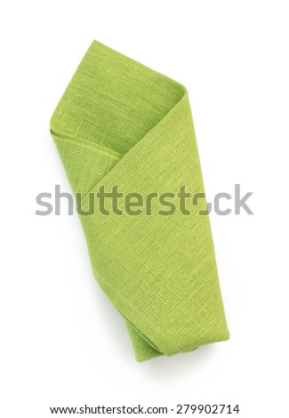 folded napkin isolated on white background