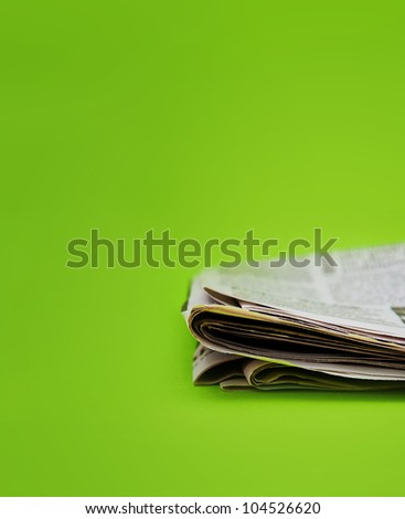 Folded newspaper, close up image