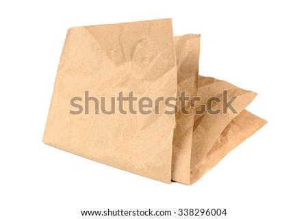 Folded Paper Isolated on White Background - stock photo