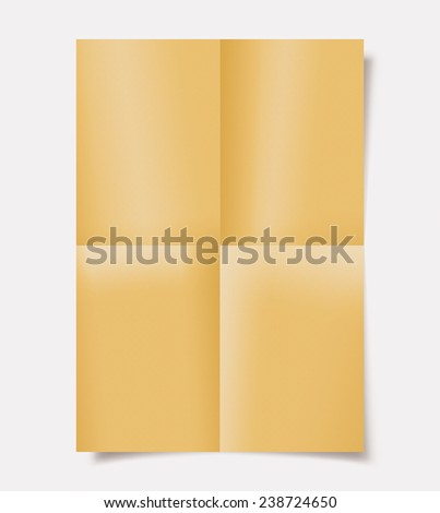 Folded paper with shadow - stock photo