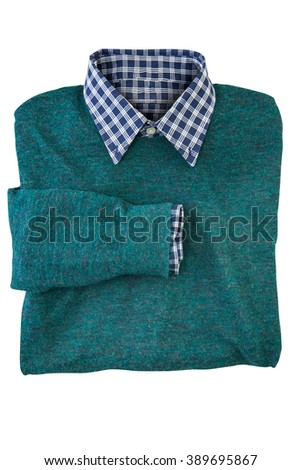 Folded shirt and sweater