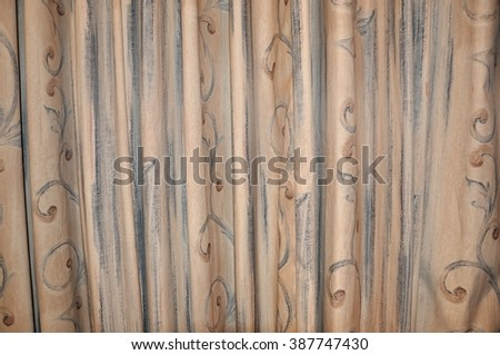 Folded textiles textures - stock photo