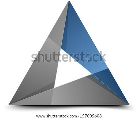 Folded triangle - stock photo
