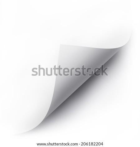 folded white paper sheet - stock photo
