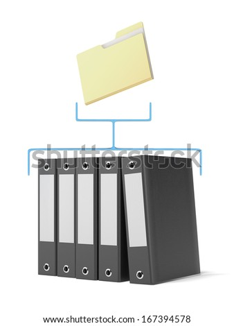 Folder and binders - stock photo