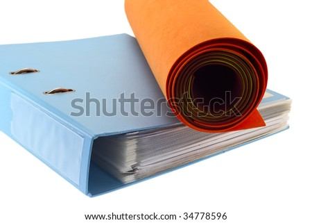 Folder and nonwoven rolls. - stock photo