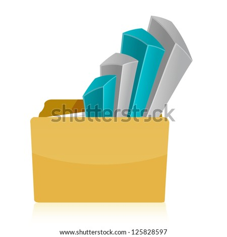 folder Business graph illustration design over a white background