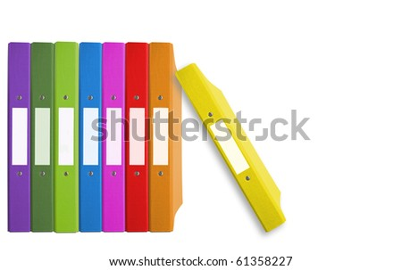 folder color - stock photo