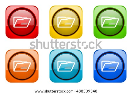 folder colorful web icons