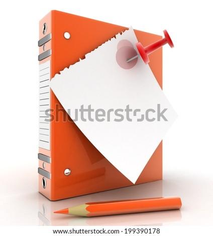 folder for documents - stock photo