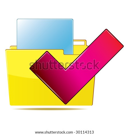 Folder icon - stock photo