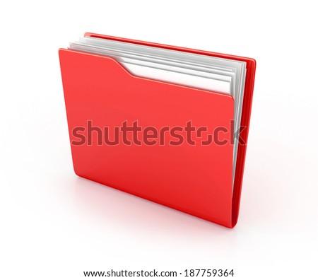 folder icon. 3d render isolated on white - stock photo