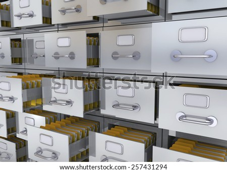 Folder in the Archives 3D - stock photo