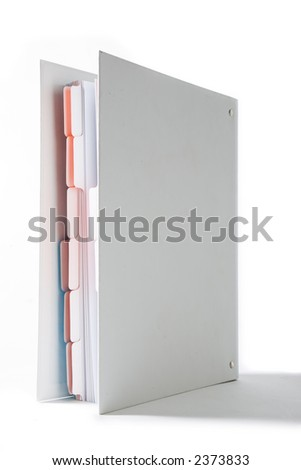 Folder, isolated on white - stock photo