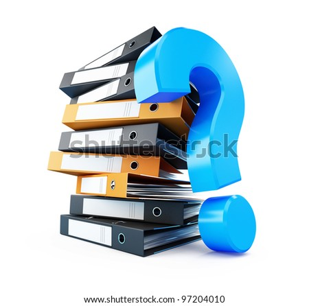 folder question mark isolated on a white background