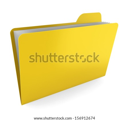 Folder with files. 3d illustration on white background  - stock photo