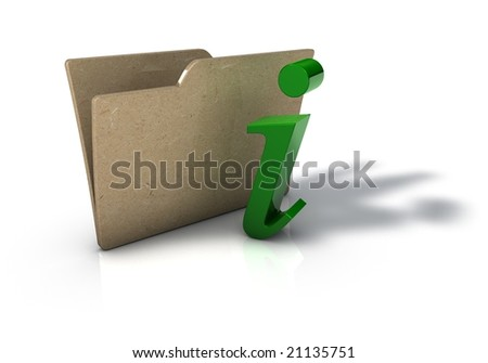 Folder with Information Icon - stock photo
