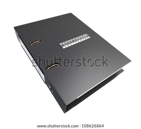 folder with security lock dial - stock photo