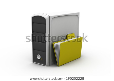 Folder with server - stock photo