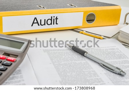Folder with the label Audit - stock photo