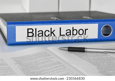 Folder with the label Black Labor