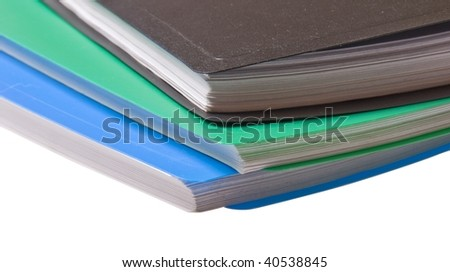 folders for paper isolated on white background - stock photo
