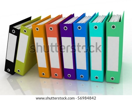 folders for papers - stock photo