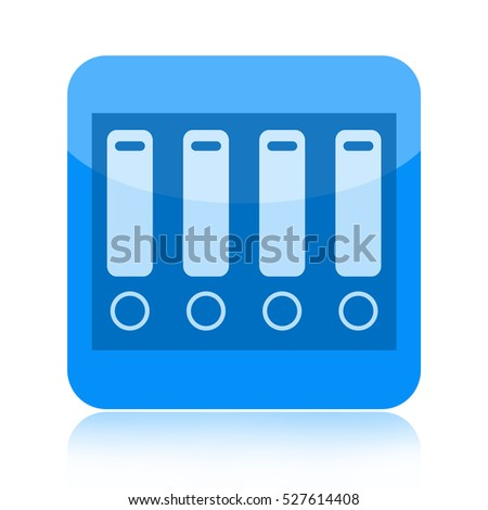 Folders icon isolated on white background