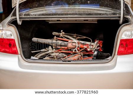 Folding Bicycle  in a car