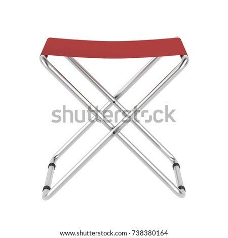 Folding chair isolated on white background, 3D illustration