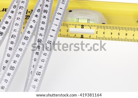 folding ruler & building level
