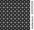 Folk pattern on a black background - stock photo