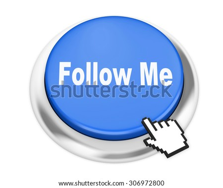 Follow button on isolate white background