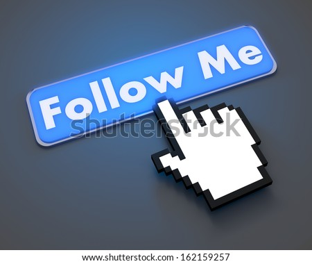 follow me like share button symbol illustration
