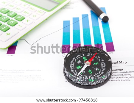 Follow the Money: Business background, financial data concept with pen - stock photo