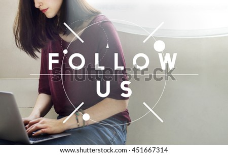 Follow Us Join Social Media Network Concept