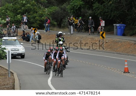 FOLSOM, CA - MAY 20:  The TWENTY16-Ridebiker team competes at the 2016 Amgen Tour of California Womens Team Time Trial on May 20, 2016 in Folsom, CA.
