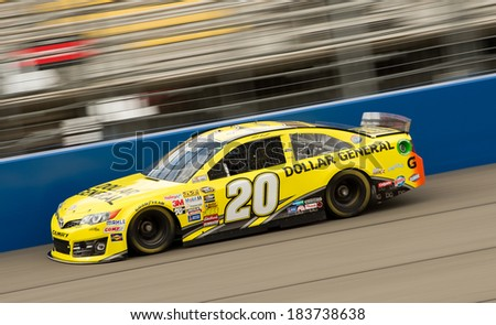 FONTANA, CA - MAR 22: Matt Kenseth at the Nascar Sprint Cup practice at Auto Club Speedway in Fontana, CA on March 22, 2014