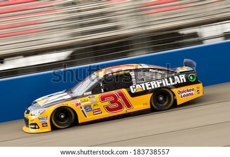FONTANA, CA - MAR 22: Ryan Newman at the Nascar Sprint Cup practice at Auto Club Speedway in Fontana, CA on March 22, 2014