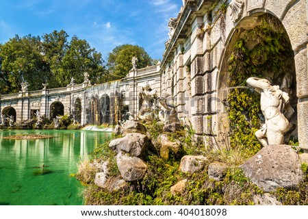 Fontana di Eolo at the Royal Palace of Caserta, Italy