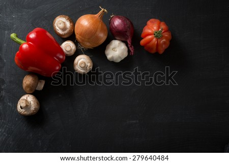 Food Background fresh vegetables - stock photo