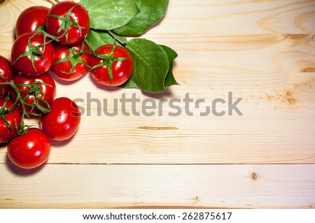 Food background with tomatoes